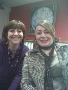 Tania from Manchester and Catherine from London on a Second Generation visit to Beth Shalom